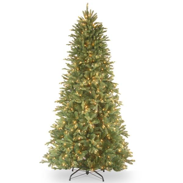 6.5-foot Realistic Fir Lit Slim Tree. Opens flyout.