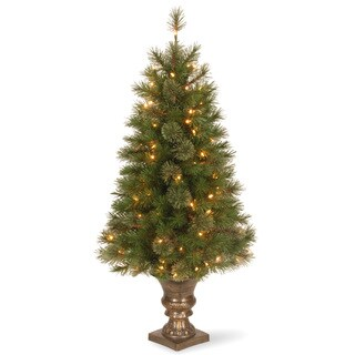 4-foot Atlanta Spruce Entrance Tree with Clear Lights