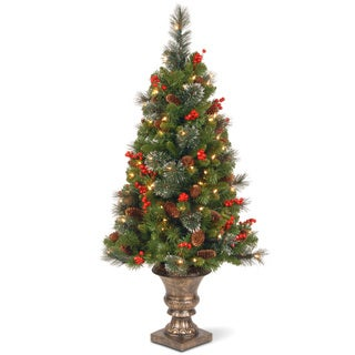 Link to 4-foot Crestwood Spruce Entrance Tree with Clear Lights Similar Items in Christmas Greenery