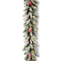 "9' x 10"" Dunhill Fir Garland with  50 Clear Lights"