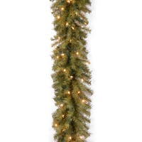 9-foot Pre-lit Norwood Fir Garland