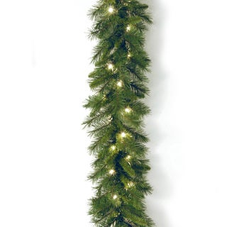 Link to Pre-lit 9-foot WCH7-300-9A-1 Winchester Pine Garland with Clear Lights Similar Items in Christmas Greenery