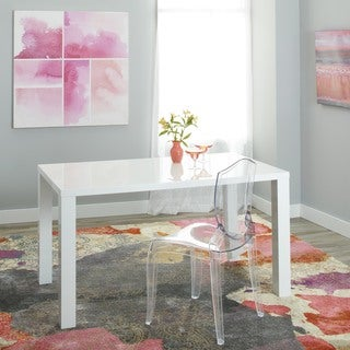 Simple Living Felix Glossy White Dining Table