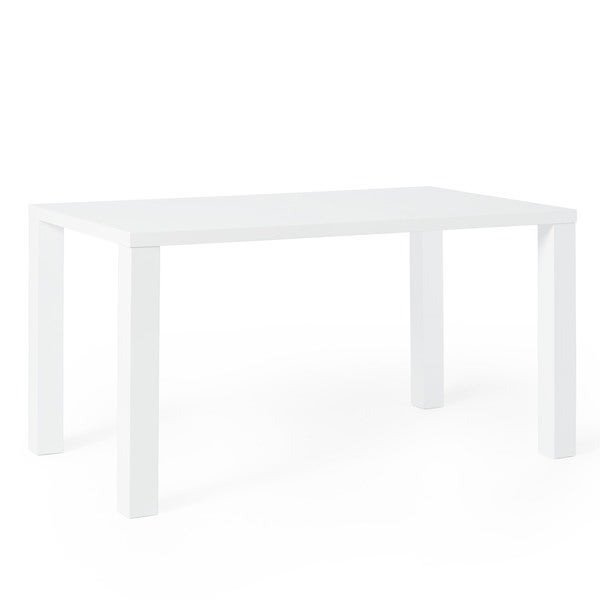 Beautiful Simple Living Felix Glossy White Dining Table   Free Shipping Today    Overstock.com   16612816