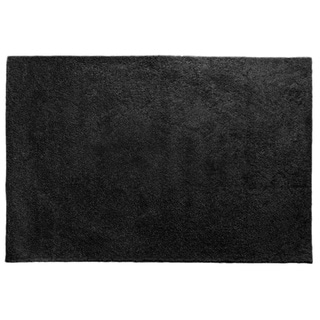 Somette Brights Black Shag Area Rug (4' x 6')