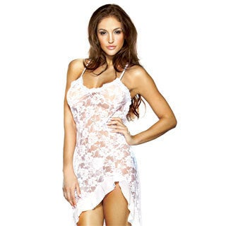 Fantasy Lingerie Women's Lace Dress with G-string (One Size)