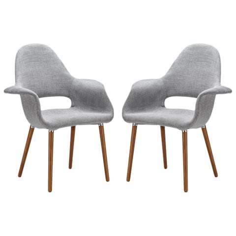 EdgeMod Barclay Dining Chair in Light Grey (Set of 2)