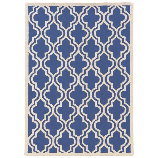 Nursery Rug Placement: Shop Linon Silhouette Navy/ White Area Rug (8' X 10
