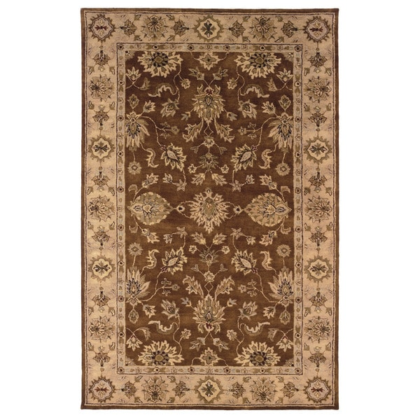 Linon Rosedown Brown And Gold Area Rug 4 X27