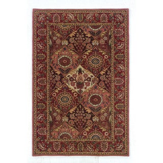 Linon Rosedown Burgundy/ Coral Area Rug (4' x 6')
