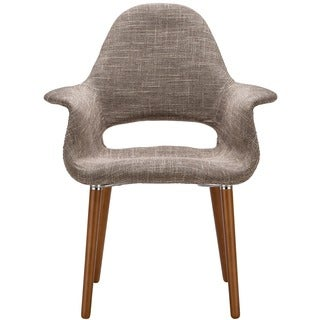 Barclay Organic Style Taupe Dining Arm Chair