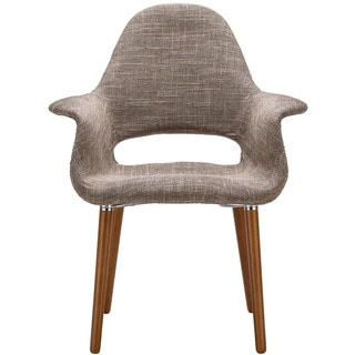 Poly and Bark Barclay Organic Style Taupe Dining Arm Chair