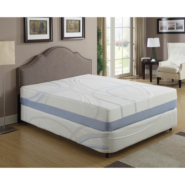 AC Pacific 12 Inch Queen Size Gel Infused Memory Foam Mattress