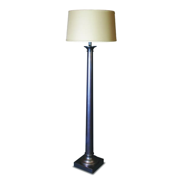 Mr. Lamp and Shade # QF to 1637 60-inch Bronze Tapered Column Metal Floor Lamp