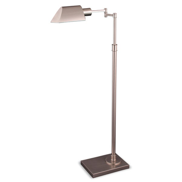 Mr. Lamp and Shade #QF-6943 36 to 46-inch Satin Nickel Metal Table Lamp