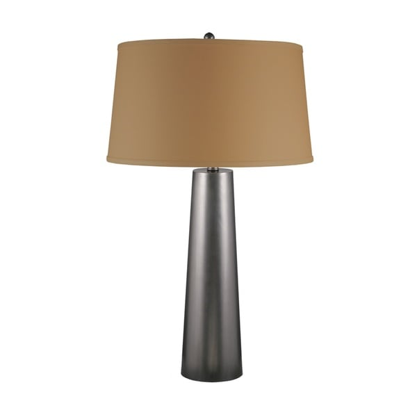 Mr. Lamp and Shade #QT-1598 30-inch Bronze Tapered Column Metal Table Lamp