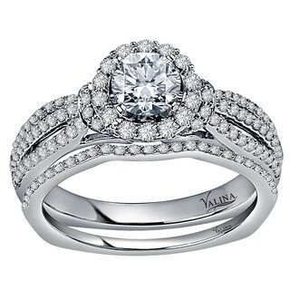 Valina Designer 14k White Gold 1 1/10ct TDW White Diamond Bridal Set