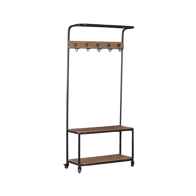 Linon Metal And Wood Hall Tree Overstock 9426770