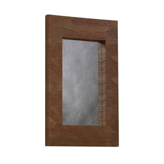 Linon Mahogany Leaf Leaner Mirror