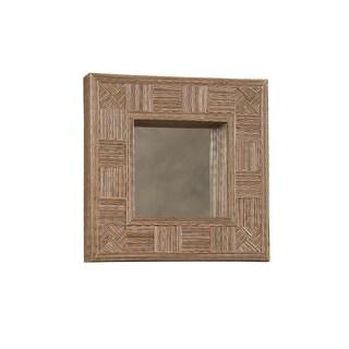 Linon Mosaic Cocostick Square Mirror
