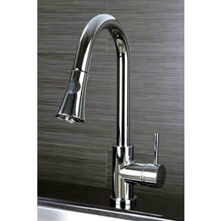 Kitchen Chrome Single Handle Faucet with Pull Down Spout