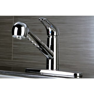 Traditional Chrome Pullout Kitchen Faucet