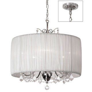 5-light Polished Chrome/ Crystal Chandelier