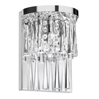 2-light Crystal/ Polished Chrome Wall Sconce