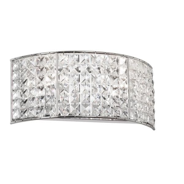 Shop 2 Light Polished Chrome Crystal Vanity Fixture On