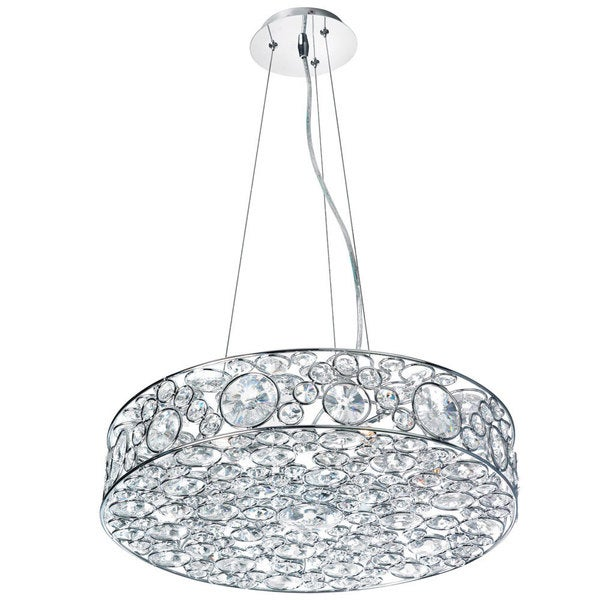 'Lynda' 6-light Polished Chrome Crystal Chandelier
