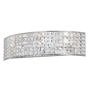 3-light Crystal/ Polished Chrome Vanity Fixture