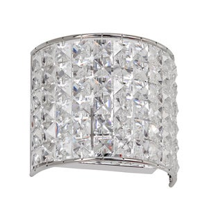 1-light Crystal/ Polished Chrome Wall Sconce