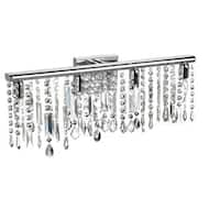 4-light Crystal and Polished Chrome Vanity Fixture
