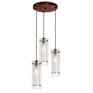 Frosted Glass 3-light Oil-rubbed Bronze Pendant