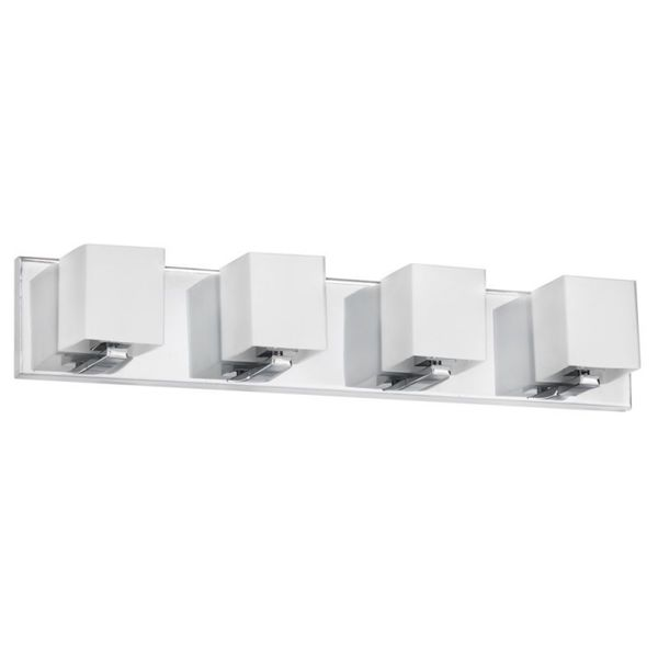 Dainolite 4-light Polished Chrome Vanity Fixture