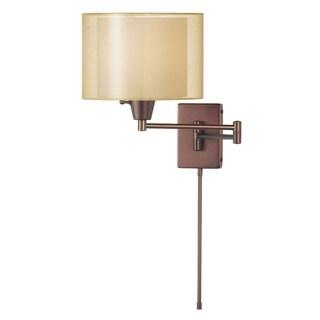 Dainolite 1-light Oil-rubbed Bronze Swing Arm Light