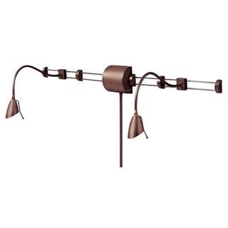 Dainolite Oil-brushed Bronze 2-light Over-bed Reading Lamp