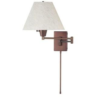 Dainolite Oil-brushed Bronze Swing Arm Single-light Wall Lamp