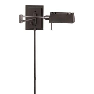 Dainolite Oil-brushed Bronze Swing-arm Wall Lamp (As Is Item)