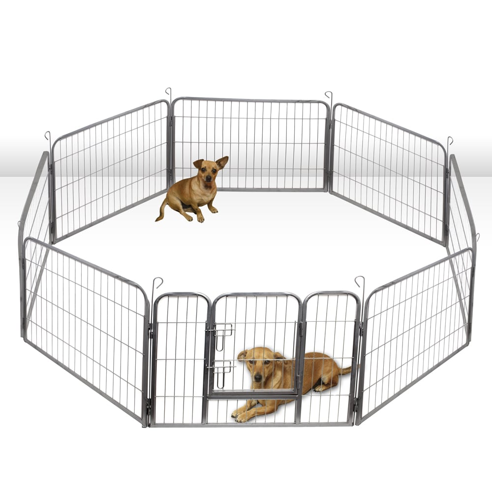 OxGord Heavy Duty Portable Metal Exercise Dog Playpen (40...