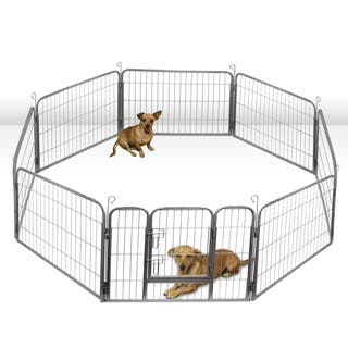 OxGord Heavy Duty Portable Metal Exercise Dog Playpen|https://ak1.ostkcdn.com/images/products/9427073/P16613506.jpg?impolicy=medium