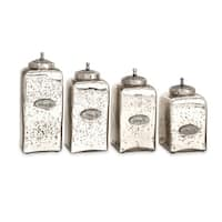 Numbered Mercury Glass Jars with Lids (Set of 4)