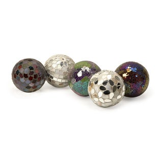 Abbot Mosaic Deco Balls (Set of 5)