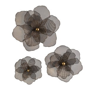 Astaire Iron Flower Wall Decor (Set of 3)
