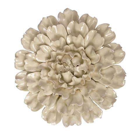 Isabella Large Ceramic Flower Wall Decor