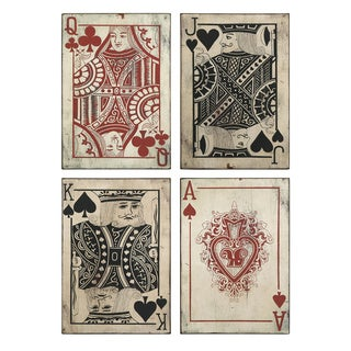 Leonato Playing Card Wall Decor (Set of 4)
