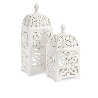 Maison Rouge Armour Ceramic T-light Lantern (Set of 2)
