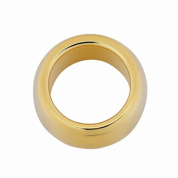 Shop Oro Forte 14k Yellow Gold 11 5-mm High Polish Bold Band