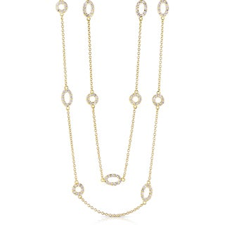 Collette Z Goldplated Sterling Silver Cubic Zirconia Diamond by the Yard Necklace