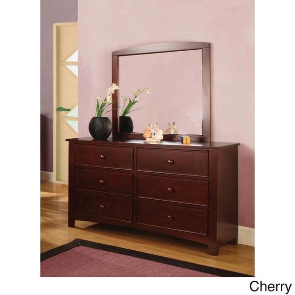 Furniture of America Paraiba 2-Piece Dresser and Mirror Set
